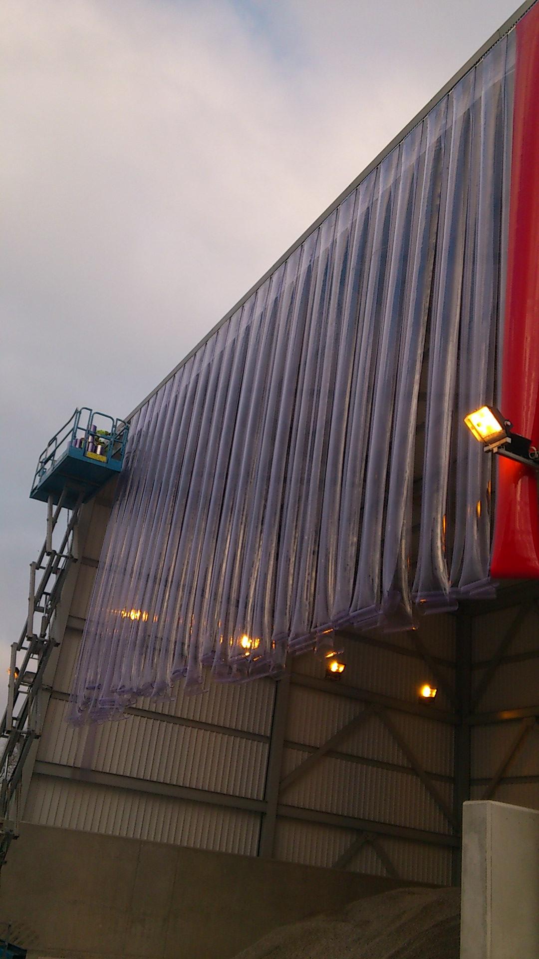 curtain fly mesh bird strip screens pvs droppings and curtaincloseupview control curtains pvc