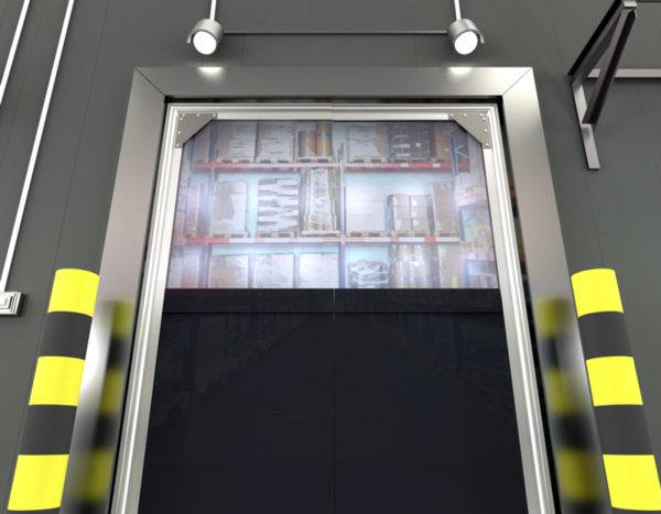 Double Panel PVC Crash Door