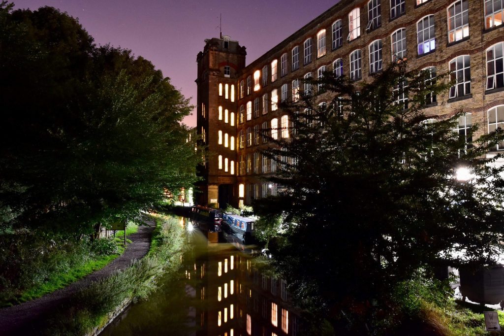 Clarence Mill at night