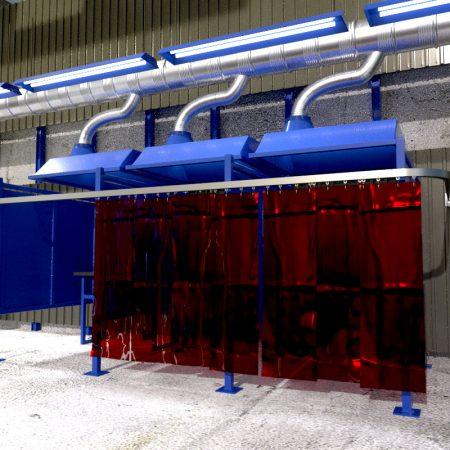 Custom Welding Booths